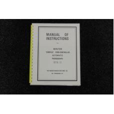Wurlitzer Manual of Instruction P10 & P12