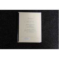 Wurlitzer Service Manual and Parts Catalog 1977 models